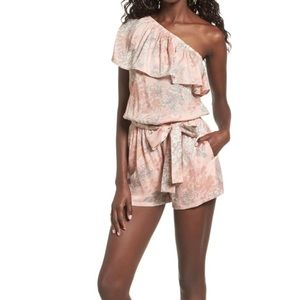 Pants - Ruffled One Shoulder Romper